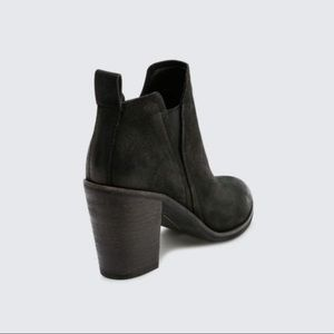 Free People Shoes - New Black Distressed Nubuck Leather Pointy Boots